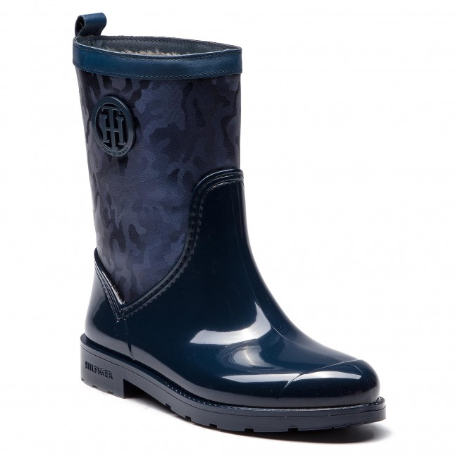 pre order wholesale outlet exclusive deals Wellingtons TOMMY HILFIGER - Shiny Camo Rain Boot FW0FW03318 Tommy ...