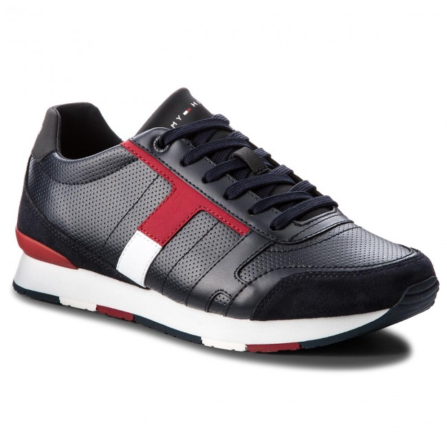 Sneakers TOMMY HILFIGER Corporate Leather Mix Sneaker FM0FM01899 Midnight 403