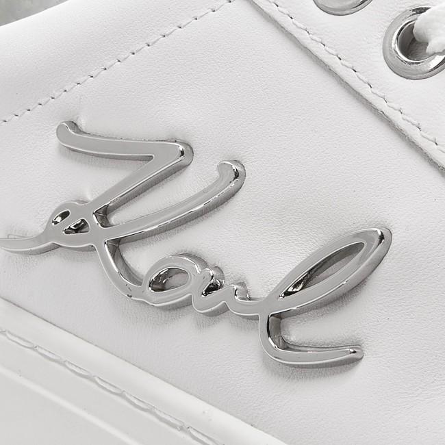 Sneakers KARL LAGERFELD - KL61010 White Lthr W/Silver