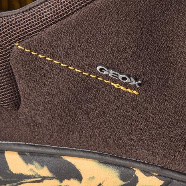 Shoes GEOX U Nebula B U52D7B 01122 C0955 CoffeeOchreyellow