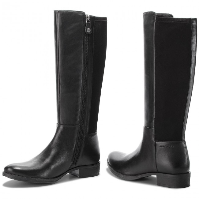 Knee High Boots GEOX D Laceyin D D84BFD 05443 C9999 Black VNUgk