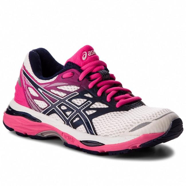 Shoes ASICS Gel Cumulus 18 T6C8N WhiteIndigo BlueHot Pink 0149
