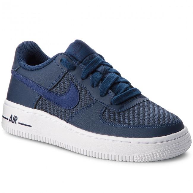 Shoes NIKE Air Force 1 Lv8 (GS) 820438 406 NavyNavyMidnight NavyWhite