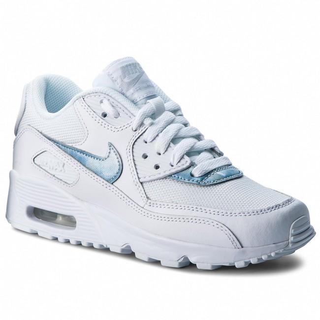 Shoes NIKE Air Max 90 Mesh (GS) 833418 111 WhiteRoyal Tint White