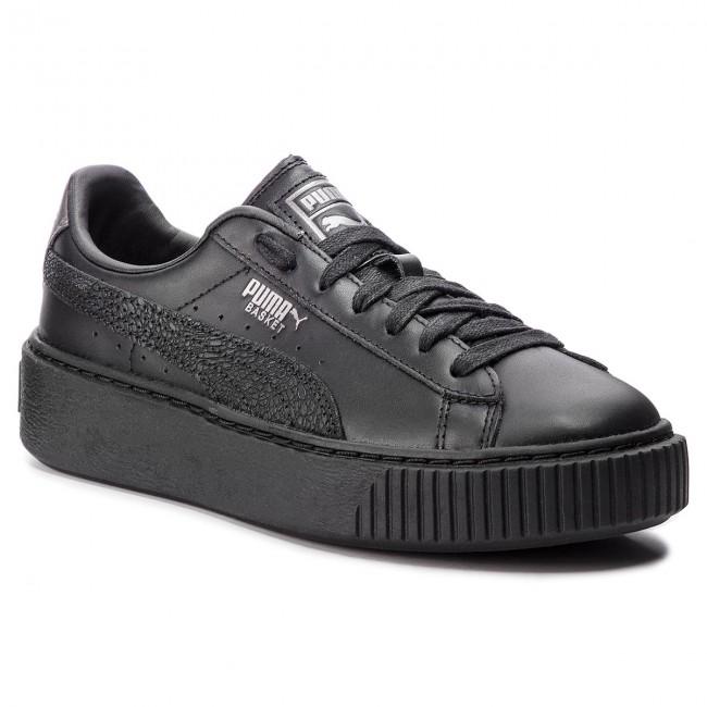 Sneakers PUMA Basket Platform Euphoria Metal 367850 02 Puma BlackPuma Aged Silver