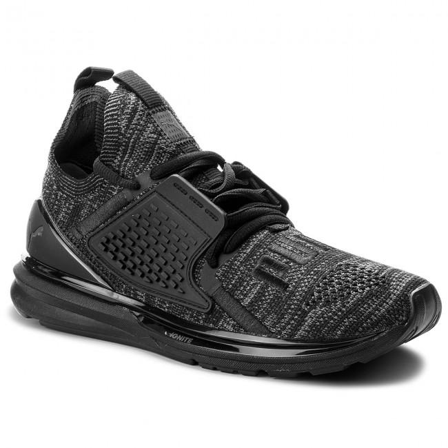 c35677485 Shoes PUMA - Ignite Limitless 2 EvoKnit 191441 01 Puma Black/Iron Gate -  Indoor - Running shoes - Sports shoes - Men's shoes - efootwear.eu