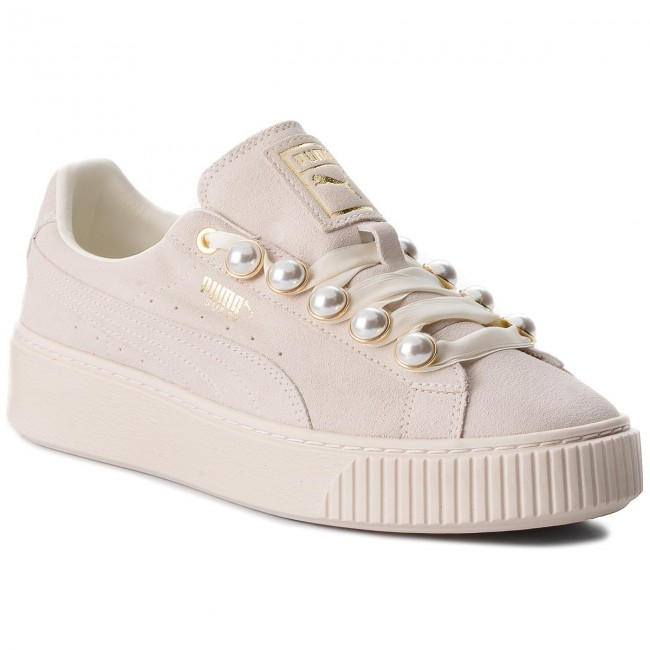 save off preview of huge discount Sneakers PUMA - Suede Platform Bling Wn's 366688 02 Whisper White/Whisper  White