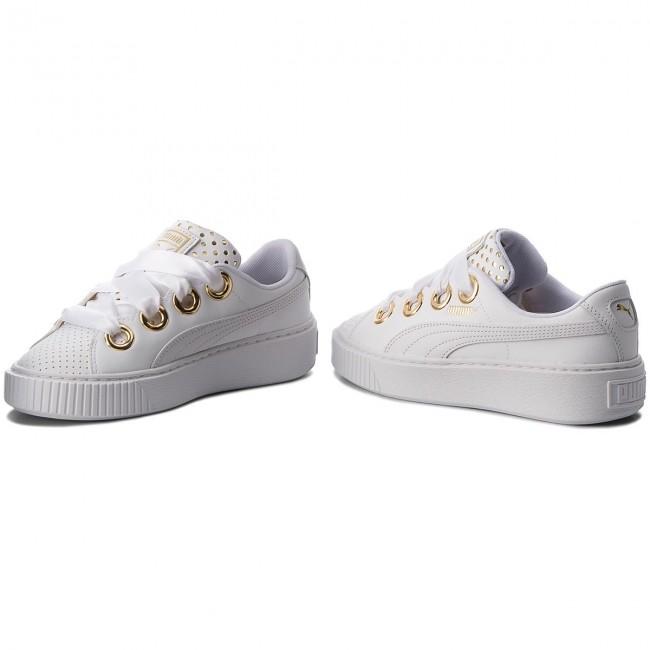 17a15b29 Sneakers PUMA - Platform Kiss Ath Lux Wn's 366704 01 Puma White/Puma White