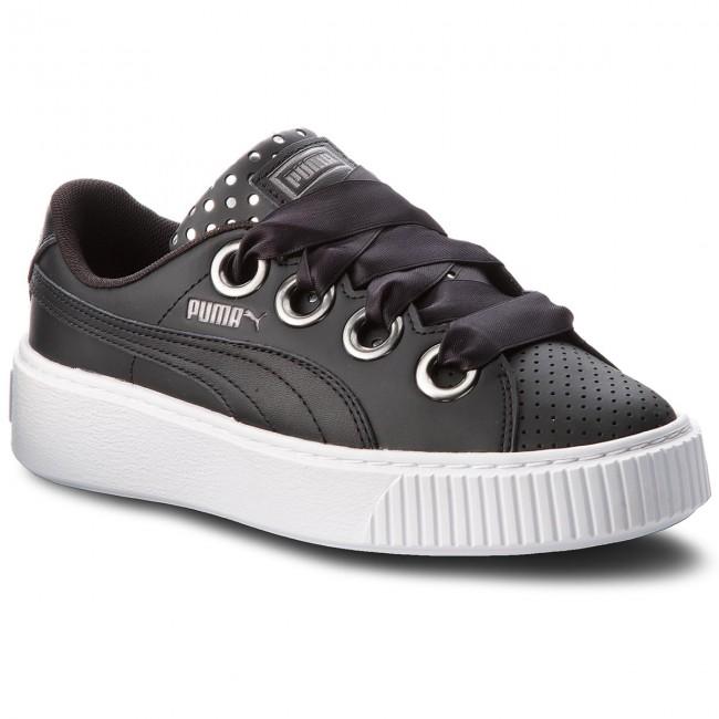wholesale dealer b74b5 cb296 Shoes PUMA - Platform Kiss Ath Lux Wn's 366704 02 Puma Black/Puma Black
