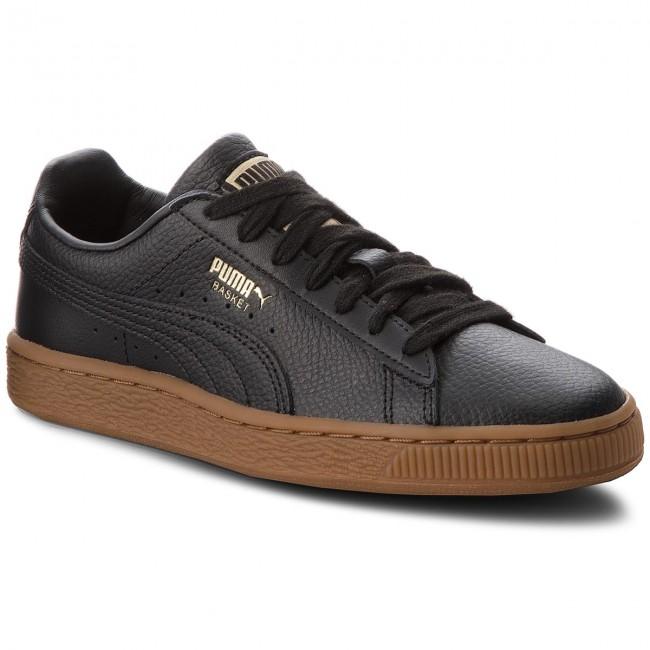 Sneakers PUMA - Basket Classic Gum Jr 366668 01 Puma Black/Metallic Gold