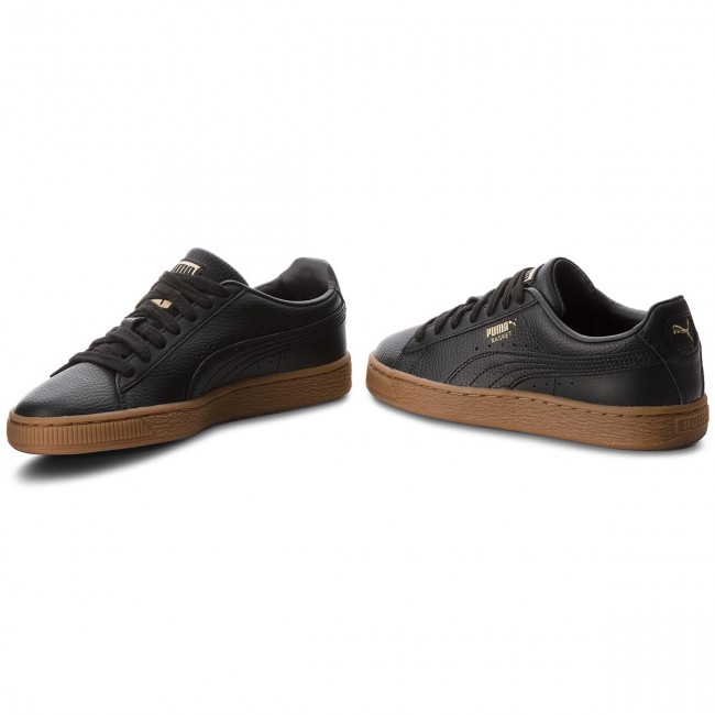 Sneakers PUMA Basket Classic Gum Jr 366668 02 Puma WhiteMetallic Gold