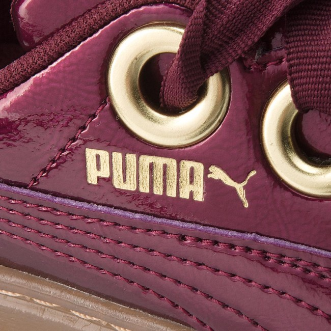 d10ffbecf2 Sneakers PUMA - Basket Platform Kiss Anodized Jr 366822 01 Fig/Puma Team  Gold