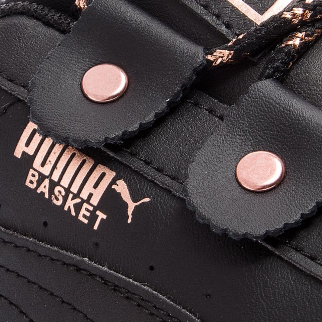 puma basket platform argento