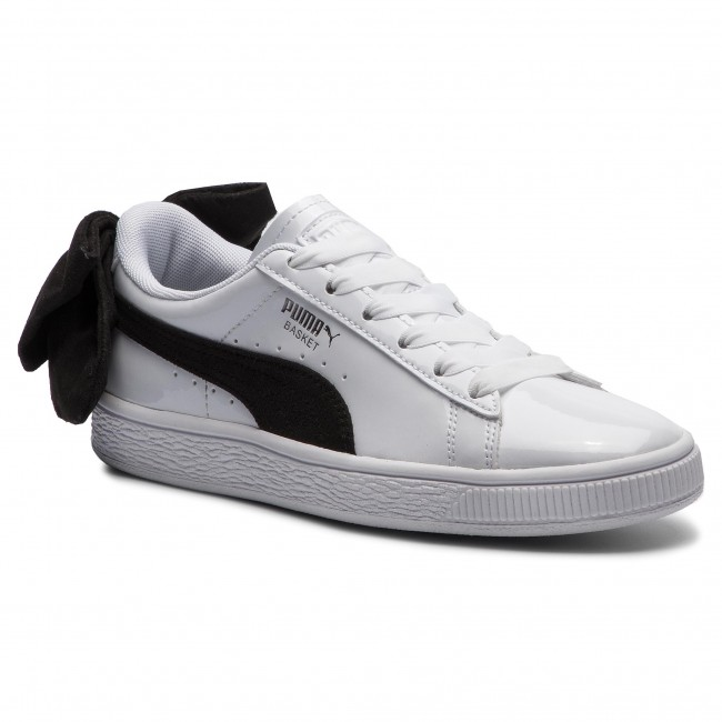PUMA BASKET BOW SB Wns White Black Women Casual Fashion