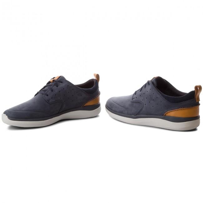 Shoes CLARKS Garratt Lace 261322957 Navy Nubuck Casual