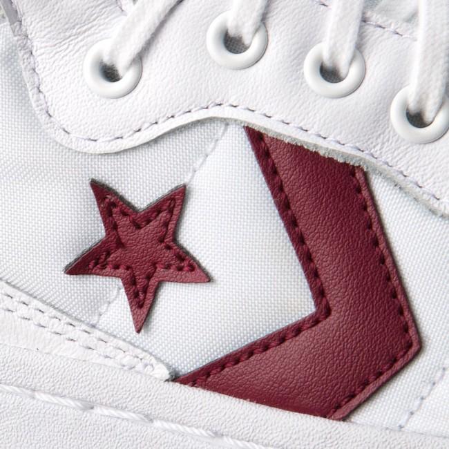 Sneakers CONVERSE Fastbreak 83 Mid 157721C WhiteDeep BordeauxWhite