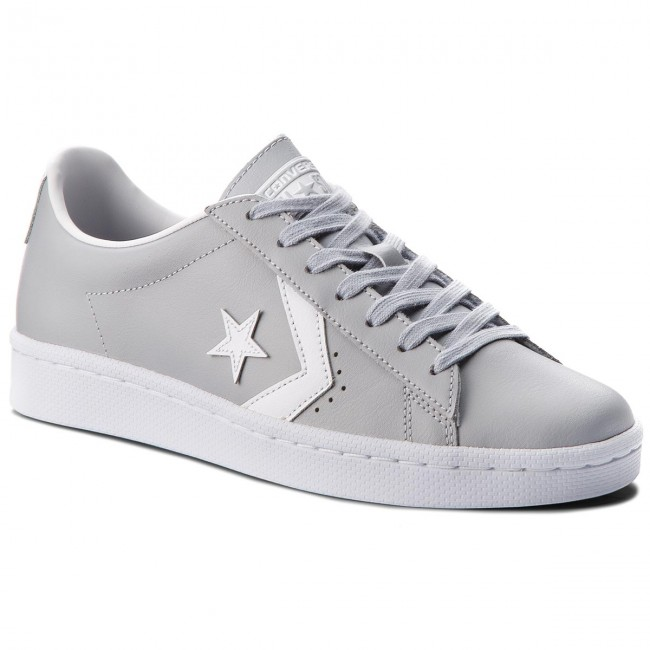 Sneakers CONVERSE Pro Leather 76 Ox 158089C Wolf GreyWhiteWhite