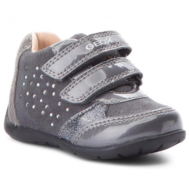 sesión China Elegancia  Shoes GEOX - B Kaytan G. A B8451A 022HI C9002 Dk Grey - Velcro - Low shoes  - Girl - Kids' shoes | efootwear.eu