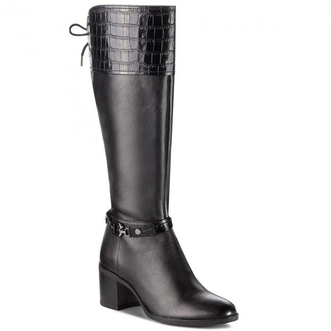 Black 0856Y Boots GEOX D Glynna D843CC High Knee C C9999 wv0ym8NnOP