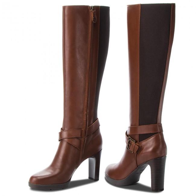 énorme réduction 80a9b 7a847 Knee High Boots GEOX - D Annya H. F D84AEF 00043 C0013 Brown