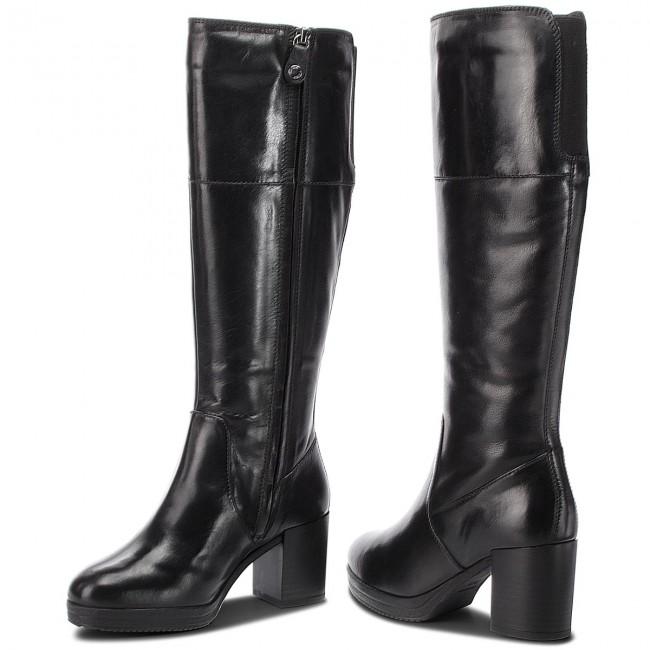 Mala suerte Describir ramo de flores  Knee High Boots GEOX - D Remigia G D84AFG 000CL C9999 Black - Jackboots -  High boots and others - Women's shoes | efootwear.eu