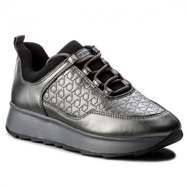 Sneakers GEOX D Gendry C D845TC 0BVNF C1G9F GunDk Grey