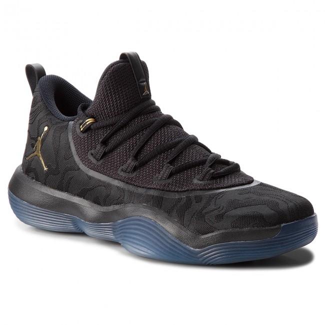 Shoes NIKE Jordan Super.Fly 2017 Low AA2547 021 BlackMetallic GoldBlack