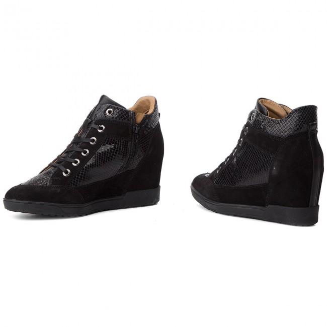 quemado sabiduría Auto  Sneakers GEOX - D Carum C D84ASC 02241 C9999 Black - Sneakers - Low shoes -  Women's shoes | efootwear.eu