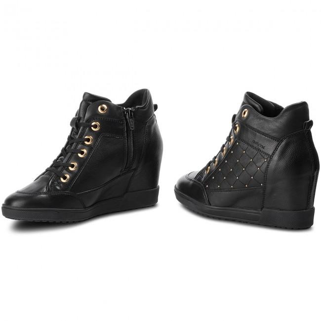 Artístico Paternal Desigualdad  Sneakers GEOX - D Carum C D84ASC 08554 C9999 Black - Sneakers - Low shoes -  Women's shoes | efootwear.eu