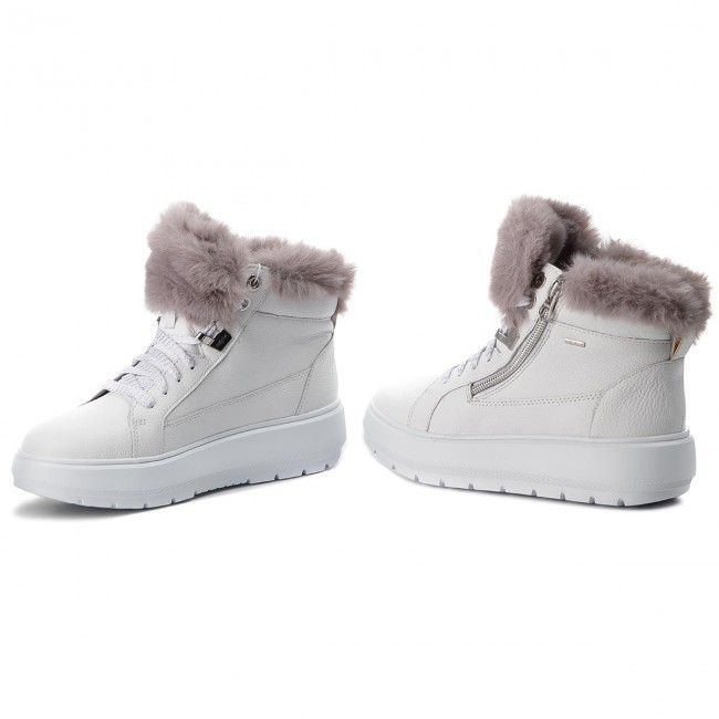 probabilidad Paleto construcción naval  Sneakers GEOX - D Kaula B Abx D D84AWD 046BH C0672 White/Dk Grey - Sneakers  - Low shoes - Women's shoes | efootwear.eu