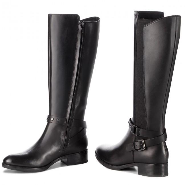 Knee High Boots GEOX D Felicity Np Abx C D84BLC 043BC C9999 Black