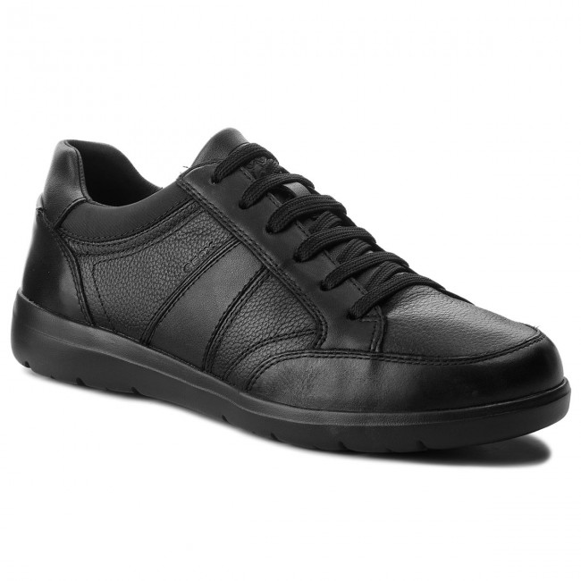 GEOX U PAVEL B Mens Leather Sneakers Casual Breathable