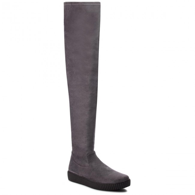Over-Knee Boots SOLO FEMME - 95206-11-I09/000-12-00 Grey