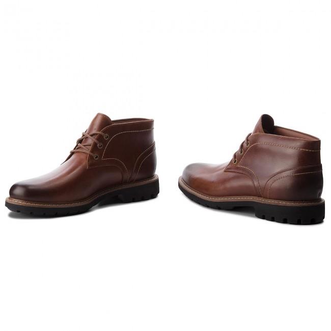 7d8569b60de8 Boots CLARKS - Batcombe Lo 261274737 Dark Tan Leather - Boots - High ...