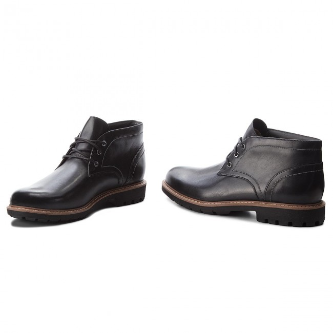 Boots CLARKS Batcombe Lo 261274747 Black Leather