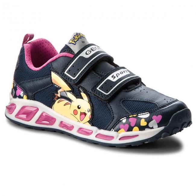 Alcalde Señora Expulsar a  Sneakers GEOX - J Shuttle G. D J8206D 014BU C4268 DD Navy/Fuchsia - Velcro  - Low shoes - Girl - Kids' shoes   efootwear.eu