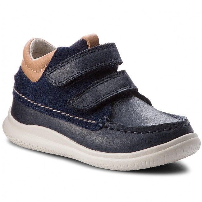 Boots CLARKS - Cloud Tuktu 261350136 Navy Combi Leather