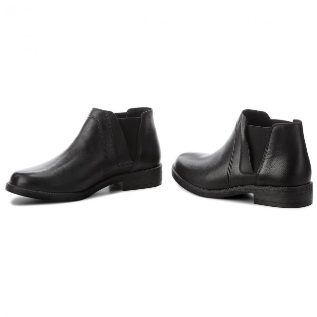 dea81ae81 Ankle Boots CLARKS - Demi Beat 261353514 Black Leather - Elastic ...