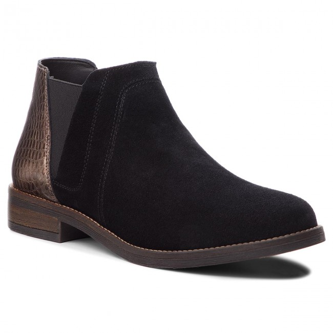 b7b0dd10d Boots CLARKS - Demi Beat 261353574 Black Int Suede - Elastic-sides - High  boots and others - Women's shoes - efootwear.eu