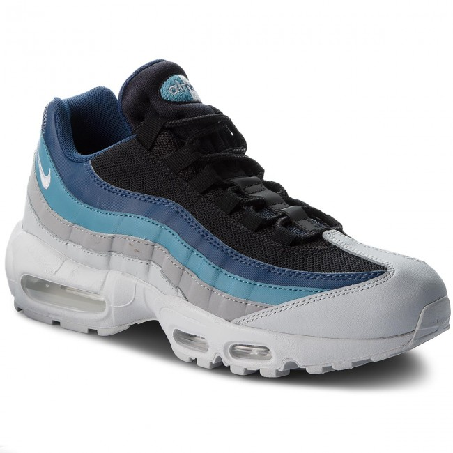 Shoes NIKE Air Max 95 Essential 749766 026 Pure PlatinumBlackNavy