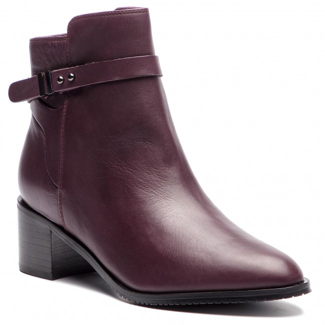 Boots CLARKS Poise Freya 261360044 Aubergine Leather