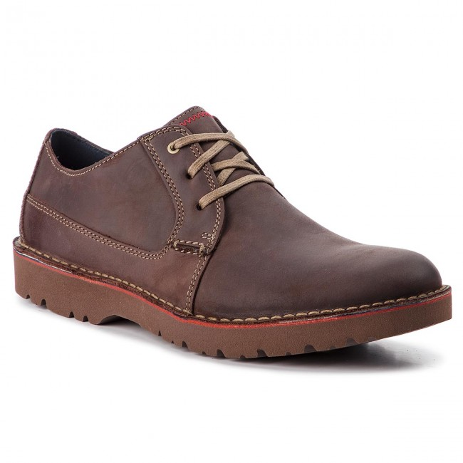 Shoes CLARKS Vargo Plain 261366757 Dark Brown Leather