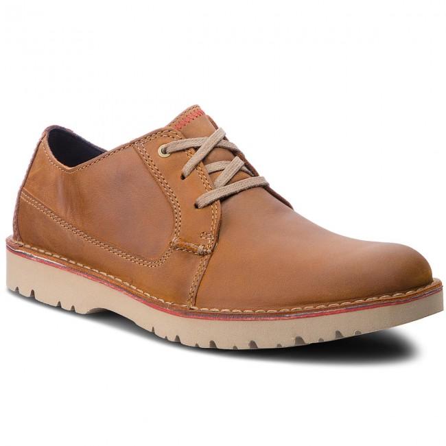 Shoes CLARKS Vargo Plain 261366767 Dark Tan Leather