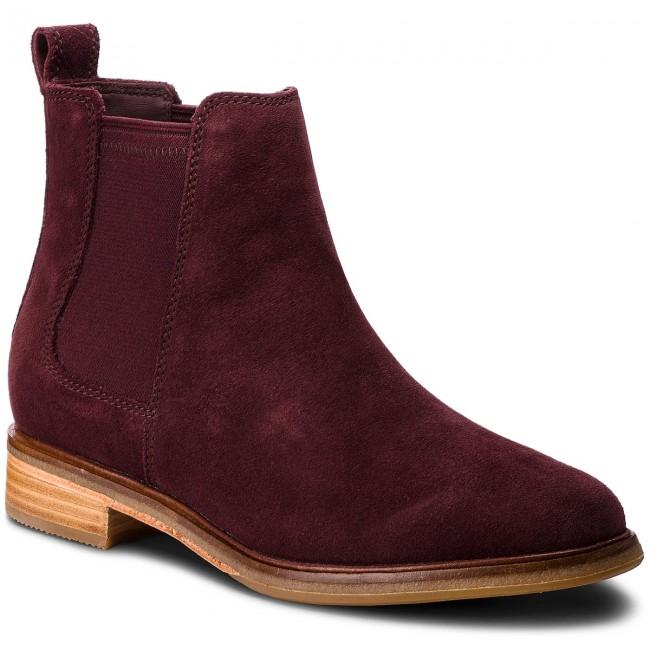 dfb5470d2ec14 Ankle Boots CLARKS - Clarkdale Arlo 261367224 Burgundy - Elastic ...