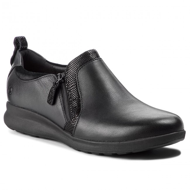 Paradoja mejilla frecuencia  Shoes CLARKS - Un Adorn Zip 261370174 Black Combi - Flats - Low shoes -  Women's shoes | efootwear.eu