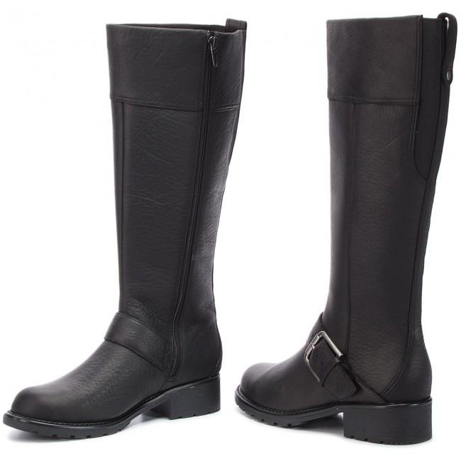 5e77f9d4eca Knee High Boots CLARKS - Orinoco Jazz 261381964 Black Warmlined Leather