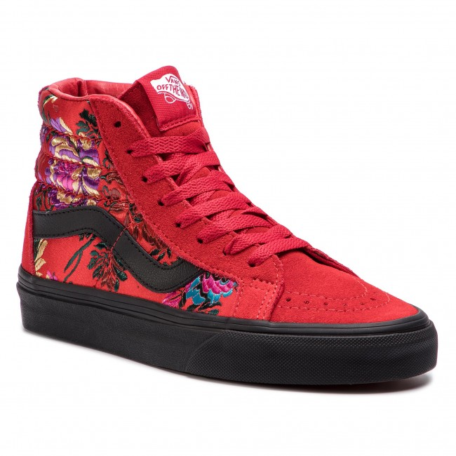 Polinizador tinción lápiz  Sneakers VANS - Sk8-Hi Reissue VN0A2XSBULP1 (Festival Satin) Red/Blac -  Sneakers - Low shoes - Women's shoes | efootwear.eu