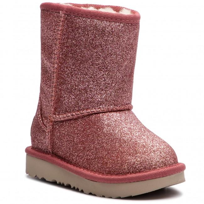 f6bf31d70b2 Shoes UGG - T Classic Short II Glitter 1098491T T/Pink