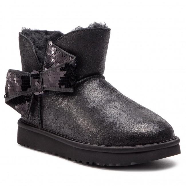 5856335012e Shoes UGG - W Mini Sequin Bow 1096012 W/Blk