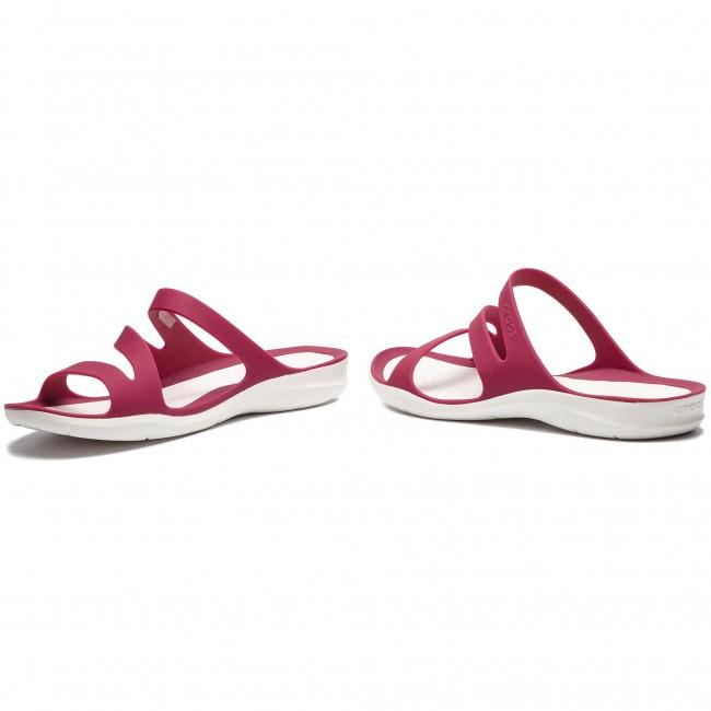 Crocs Womens Swiftwater Sandal Sport PomegranateWhite